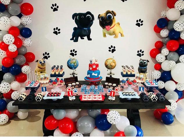 mesa de dulces puppy dog pals