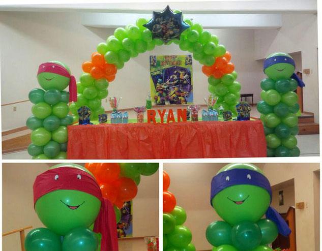 decoracion cumpleaños tortugas ninja