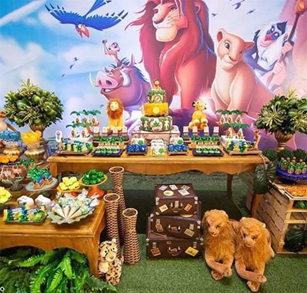 cumpleaños tematico del rey leon