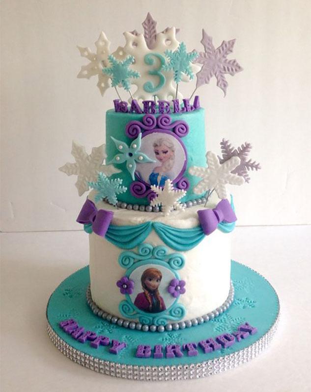 pastel fiesta infantil frozen