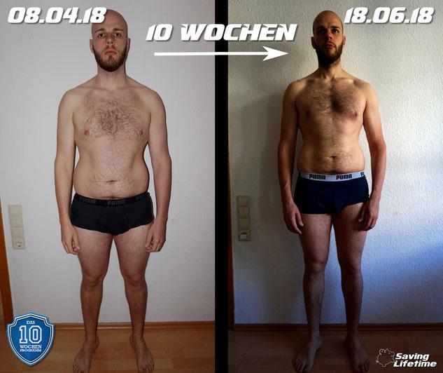 """Das Ergebnis nach 10 Wochen mit """"Das 10Wochenprogramm"""" von Julian Zietlow"""