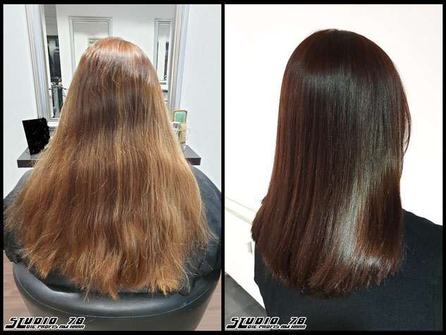 Coloration Haarfarbe Braun mocha-brown brown hair haircolor brownhair mokkabraun braun vorher nachher