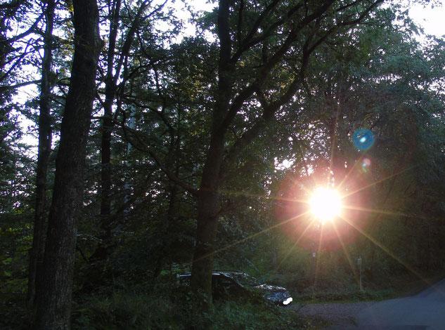 """Aktivierter Lichtkörper im Vergleich zu einem Pkw, der dort """"zufällig"""" parkte....um uns einen Blick dafür zu geben, wer wir in Wahrheit sind...Danke dafür..."""