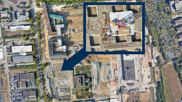 Mapping von 20 Hektar Baustelle - Ausschnitt aus der Onlinekarte