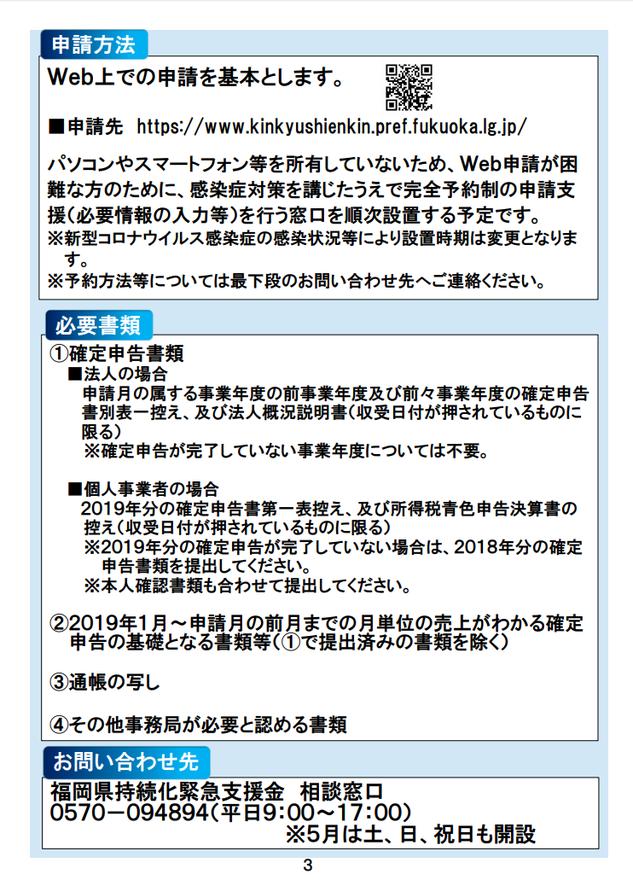 福岡県中小企業緊急支援金:申請方法・必要書類・問い合わせ先