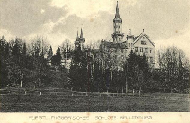 Fuggerschloss Wellenburg Postkarte 1913