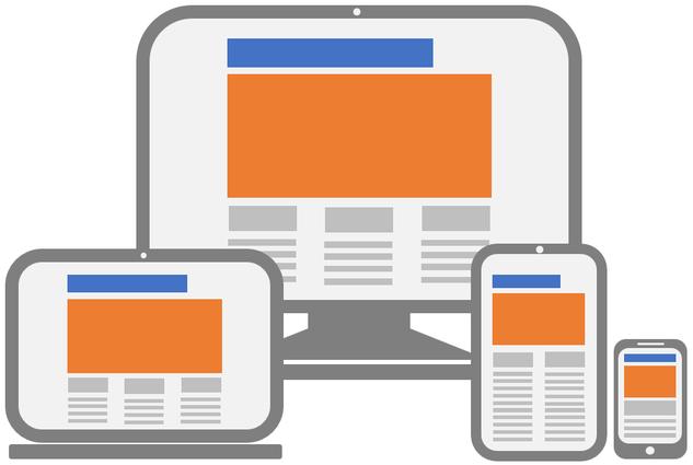 Ein ansprechendes und responsives Webdesign passt sich automatisch an die verschiedenen Bildschirmgrössen an (gross/klein, hoch/quer).