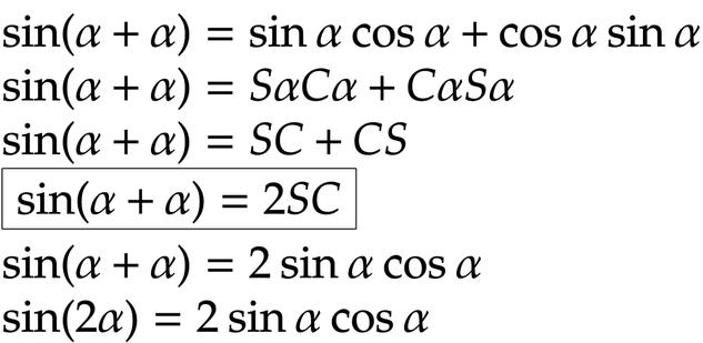 SINの2倍角の公式の覚え方