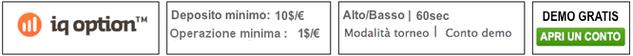 miglior broker opzioni binarie iqoption minimo deposito