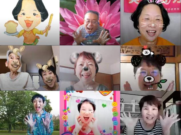 オンライン笑いヨガ20200818