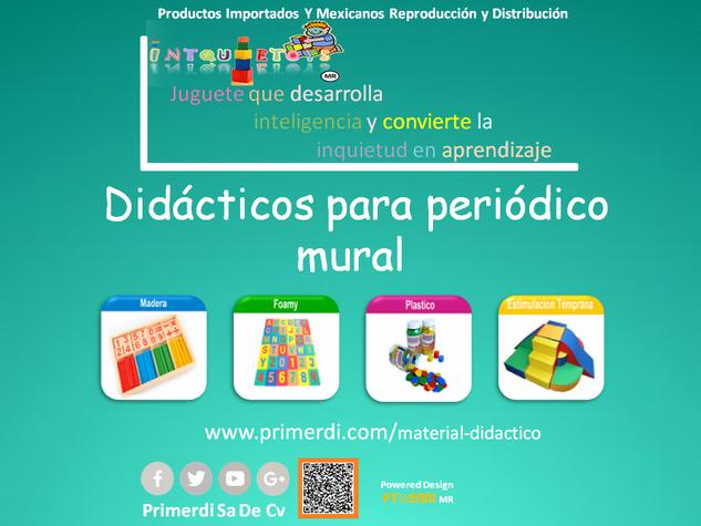 Didacticos para periodico mural primerdi material for Amenidades para periodico mural