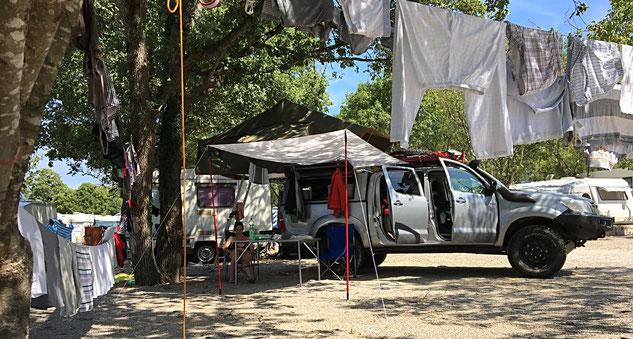 Bovi in Camping-Stimmung