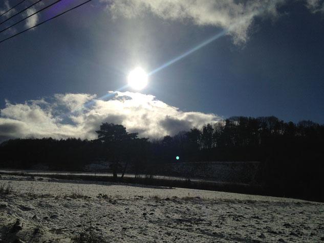 冬の耕作地