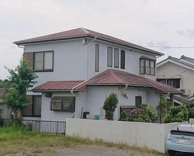 千葉市若葉区大宮町の屋根カバー工法工事、外壁塗装工事前です