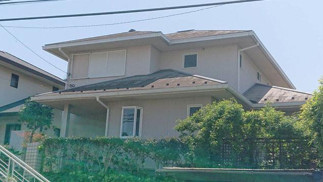 市原市ちはら台東の屋根カバー工法、外壁塗装工事前です