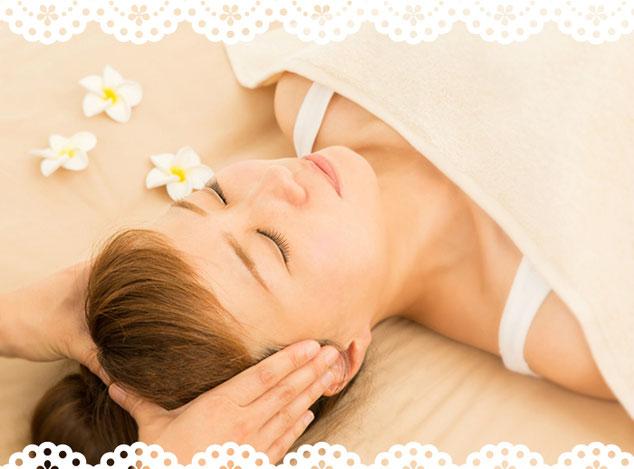 ヘッドマッサージ、ドライヘッドスパ、ヘッドセラピー、頭ほぐしで頭、心、目の疲れを癒します。