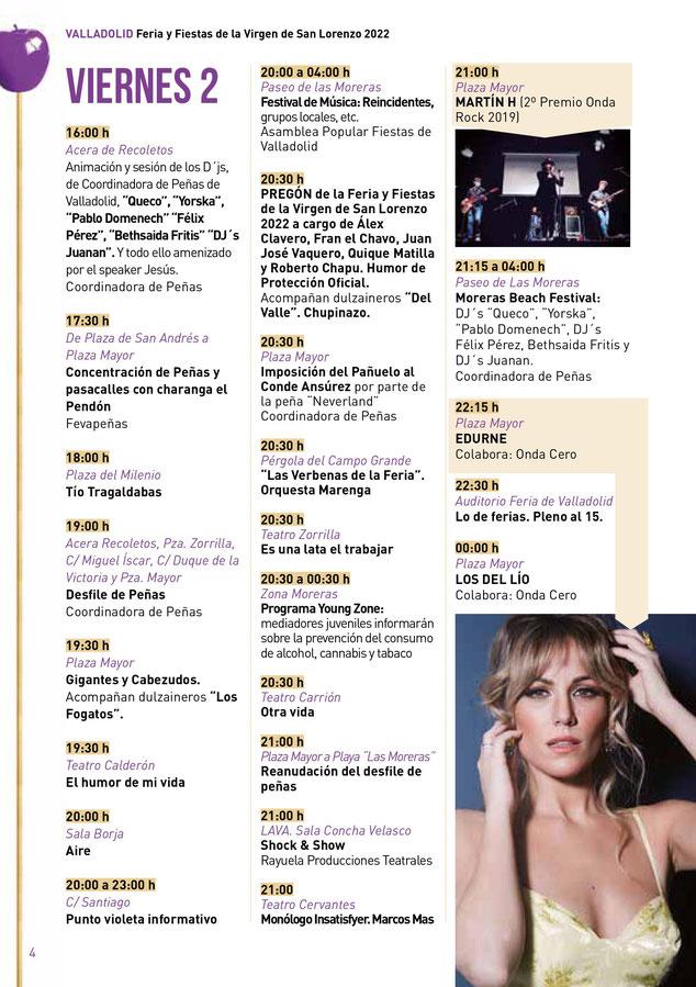 Feria y Fiestas de Valladolid 2015 Programa