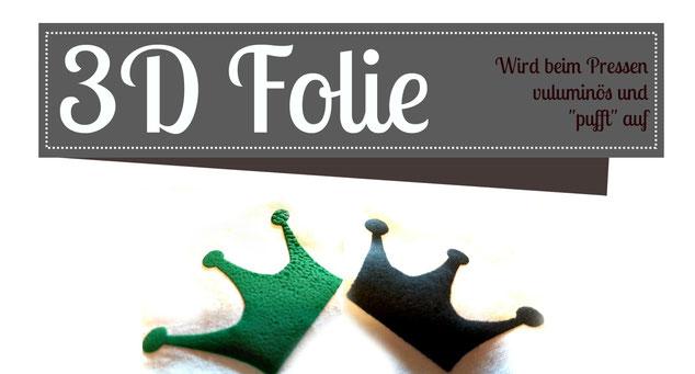 3D Folie Flex Plotter Prinzessin Plotterprinzessin