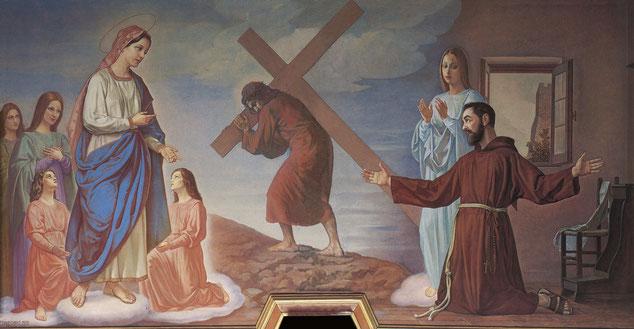 Amedeo Trivisonno Apparizione della Madonna a Padre Pio. Campobasso chiesa di Santa Maria del Monte