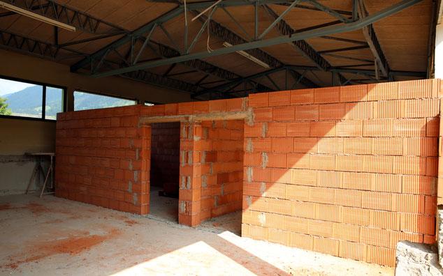 die Umbauarbeiten im Garagenkomplex sind im Gange