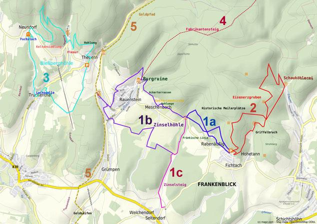 Geführte Touren zur Zinselhöhle von Rabenäußig, Rauenstein, Seltendorf, Theuern und Hämmern