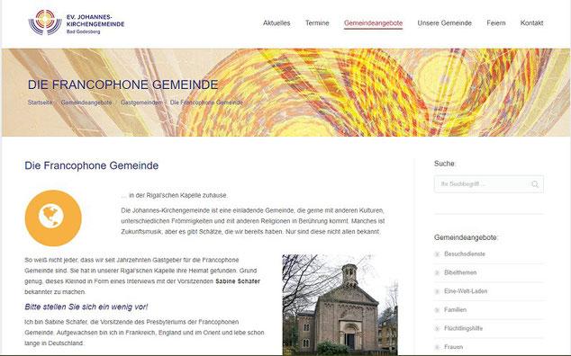 Homepage der Gemeinde
