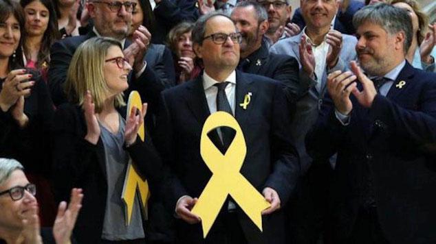 Значение желтой ленточки в Каталонии и Барселоне