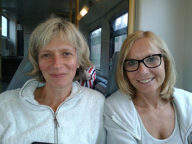 Elke und Ina: frisch ausgeruht und hoch motiviert