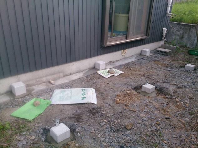 袋井市M邸・ウッドデッキ工事施工前の画像