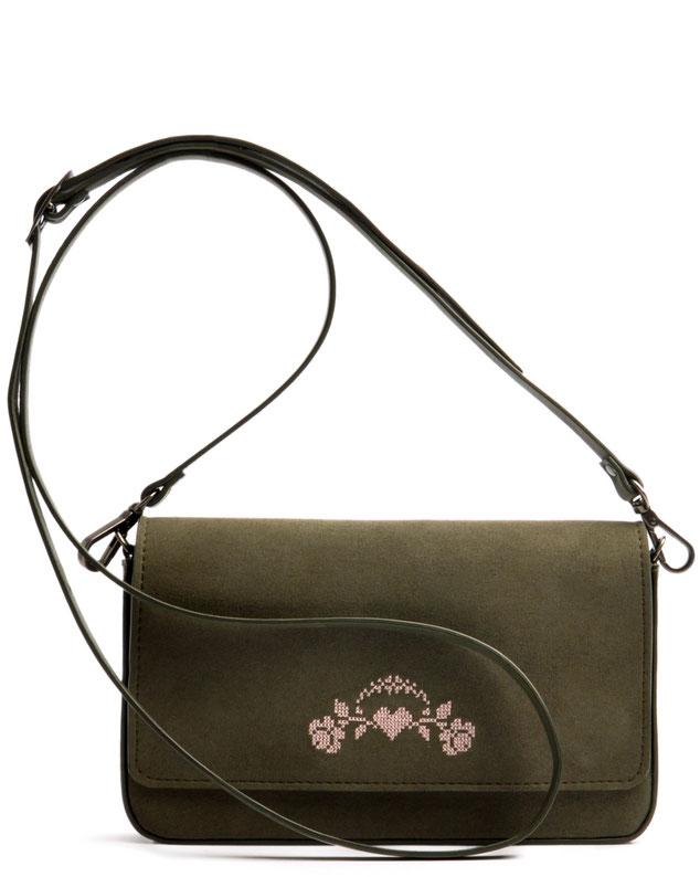 Dirndltasche in oliv und rose.  Clutch zum Dirndl . Trachtentasche . Trachtenhochzeit . OSTWALD Traditional Craft