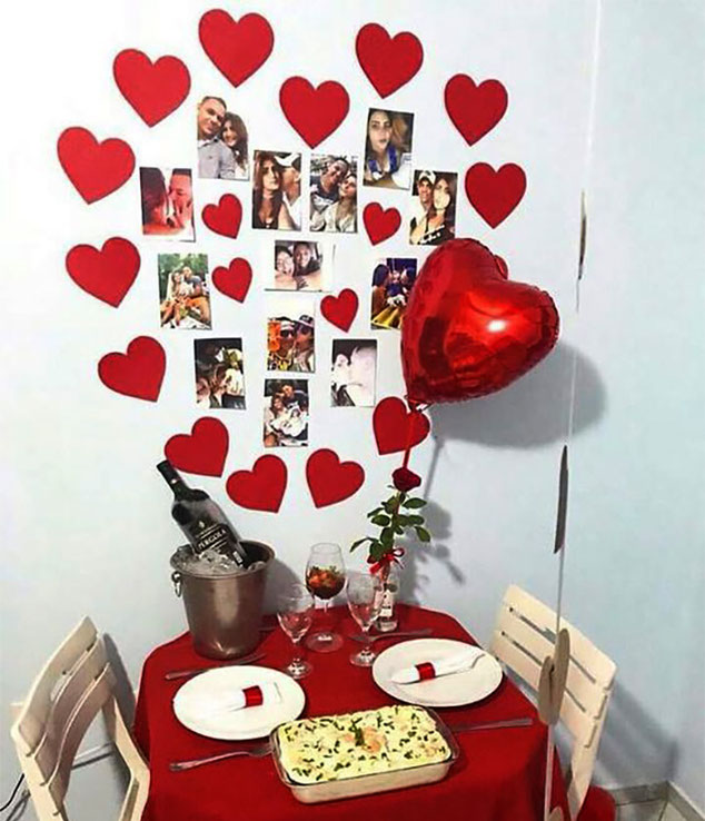 decoracion cena romantica para san valentin