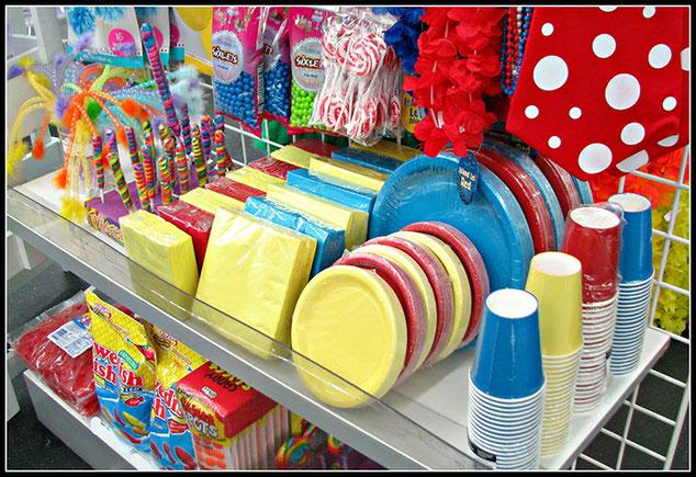comprar los artículos para una fiesta infantil
