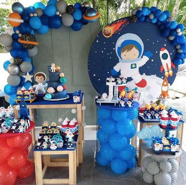 decoracion cumpleaños espacial