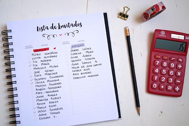 lista de invitados para fiesta infantil