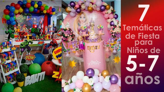 fiestas tematicas para niños de 5 a 7 años