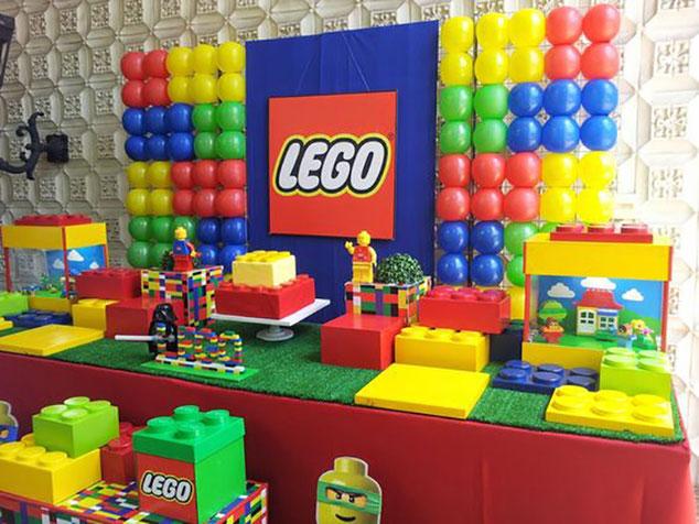 decoracion cumpleaños de lego