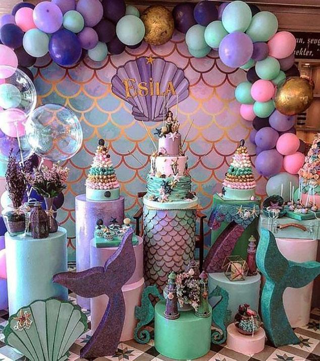 decoracion cumpleaños de sirena