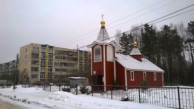 на фото: деревня Горбунки. Январь 2015.