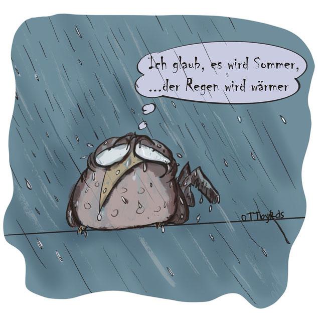 dauerrregen, pisswetter, sommeranfang, maimonsum,ottbyrds,optimist, starkregen