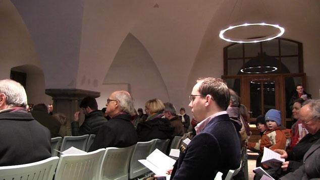 Anfang der Mette in der Winterkirche