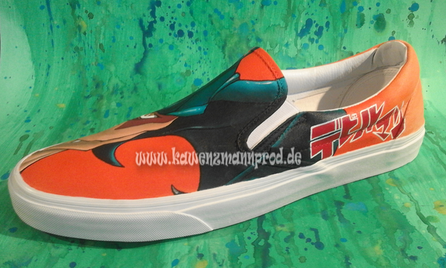 custome made painted sneakers Devilman