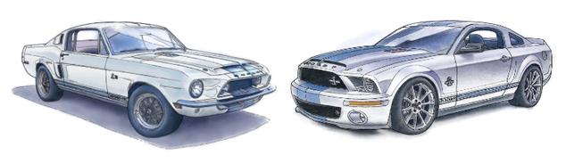 Shelby GT500KR 1968 - Shelby GT500KR 2008