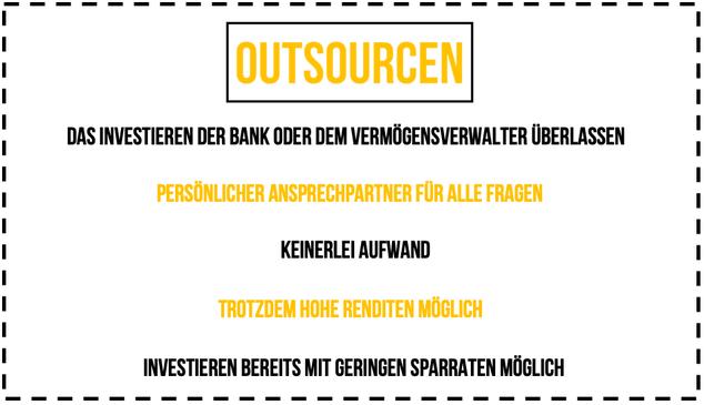 Outsourcen Investieren Leitfaden Investor Schule