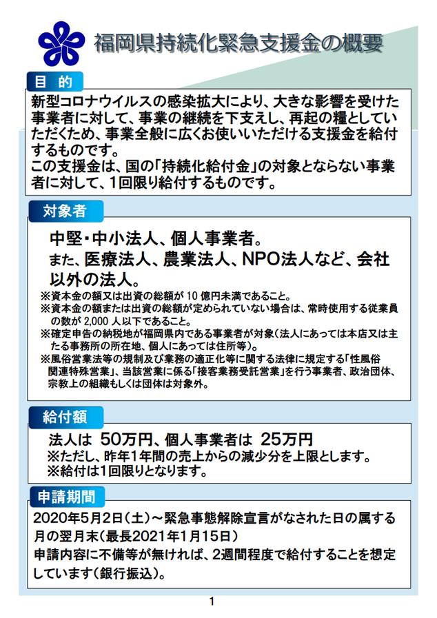 福岡県中小企業緊急支援金:目的・対象者・給付額・申請期間