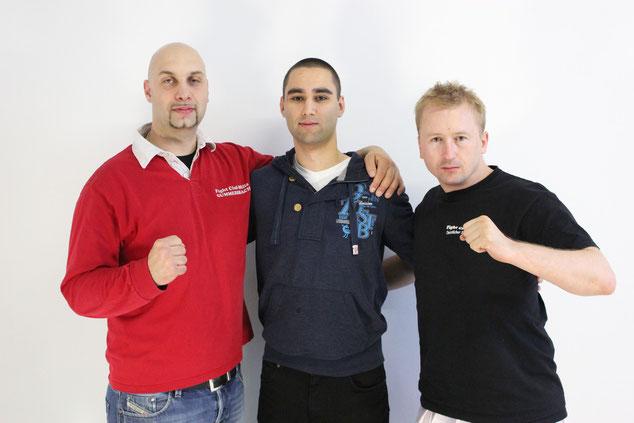 v.l. Patrizio Milia, Kuldeep Johannes Schumacher & Radoslaw Tomasik