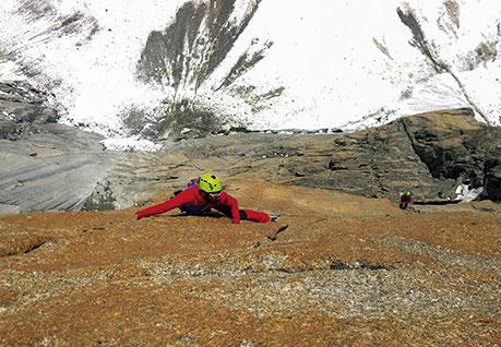 Cascade vallée des Fonds avec Florent Valleise © François Damilano