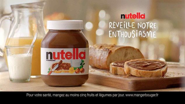 séquence affiche publicitaire nutella