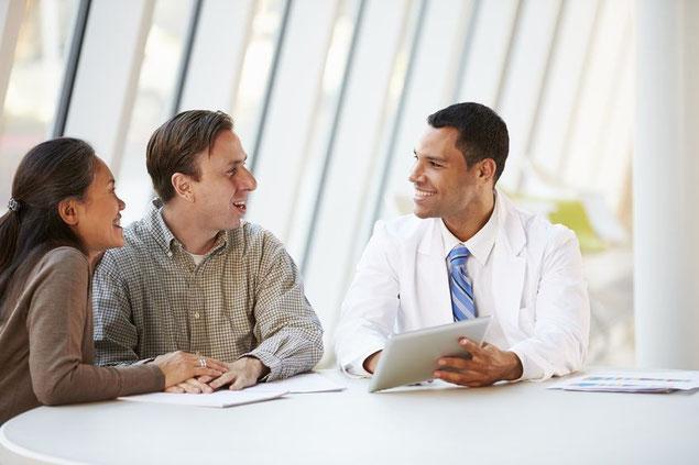 Physiotherapeut persönliches Gespräch