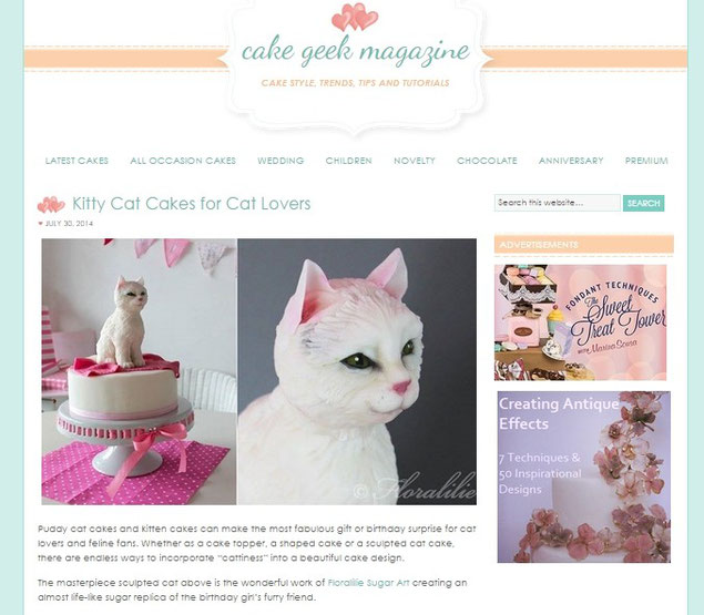 'Kitty Cat Cakes for Cat Lovers' Juli 14