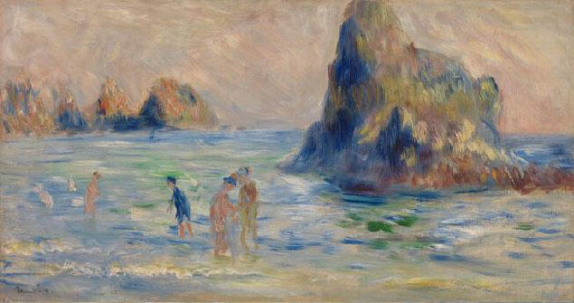 《ガーンジ島、ムーラン・フエ湾》1883年